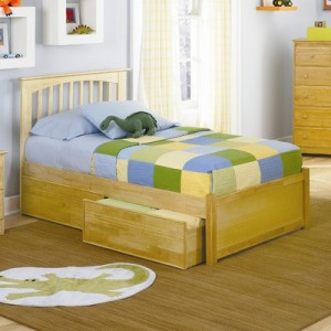Atlantic Furniture Brooklyn Platform Bed with Flat Panel Footboard in Natural Maple 300x300 Atlantic Bedding and Furniture Raleigh NC is the Best Furniture Store for You!